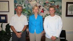 Mark, Congresswoman Lois Capps, and Devon
